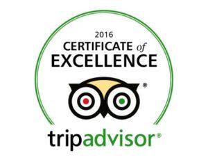 certificado de excelencia 2016 Roosevelt hotel and suites