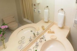 Baño vista exterior, Roosevelt Hotel & Suites, San Isidro, Lima.